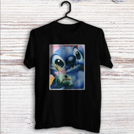 Disney Stitch Face Custom T Shirt Tank Top Men and Woman
