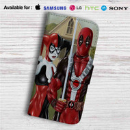 American Gothic Harley Quinn and Deadpool Custom Leather Wallet iPhone 4/4S 5S/C 6/6S Plus 7| Samsung Galaxy S4 S5 S6 S7 Note 3 4 5| LG G2 G3 G4| Motorola Moto X X2 Nexus 6| Sony Z3 Z4 Mini| HTC ONE X M7 M8 M9 Case