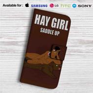 Bojack Horseman Hay Girl Custom Leather Wallet iPhone 4/4S 5S/C 6/6S Plus 7| Samsung Galaxy S4 S5 S6 S7 Note 3 4 5| LG G2 G3 G4| Motorola Moto X X2 Nexus 6| Sony Z3 Z4 Mini| HTC ONE X M7 M8 M9 Case
