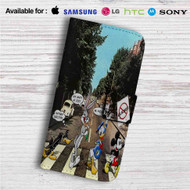 Disney Abbey Road Custom Leather Wallet iPhone 4/4S 5S/C 6/6S Plus 7| Samsung Galaxy S4 S5 S6 S7 Note 3 4 5| LG G2 G3 G4| Motorola Moto X X2 Nexus 6| Sony Z3 Z4 Mini| HTC ONE X M7 M8 M9 Case