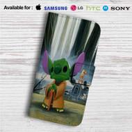 Disney Stitch Yoda Custom Leather Wallet iPhone 4/4S 5S/C 6/6S Plus 7| Samsung Galaxy S4 S5 S6 S7 Note 3 4 5| LG G2 G3 G4| Motorola Moto X X2 Nexus 6| Sony Z3 Z4 Mini| HTC ONE X M7 M8 M9 Case