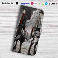 Eren and Levi Shingeki no Kyojin Custom Leather Wallet iPhone 4/4S 5S/C 6/6S Plus 7| Samsung Galaxy S4 S5 S6 S7 Note 3 4 5| LG G2 G3 G4| Motorola Moto X X2 Nexus 6| Sony Z3 Z4 Mini| HTC ONE X M7 M8 M9 Case
