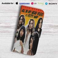 Fifth Harmony feat Fetty Wap All In My Head Custom Leather Wallet iPhone 4/4S 5S/C 6/6S Plus 7| Samsung Galaxy S4 S5 S6 S7 Note 3 4 5| LG G2 G3 G4| Motorola Moto X X2 Nexus 6| Sony Z3 Z4 Mini| HTC ONE X M7 M8 M9 Case