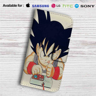 Goku Playing Game Dragon Ball Custom Leather Wallet iPhone 4/4S 5S/C 6/6S Plus 7| Samsung Galaxy S4 S5 S6 S7 Note 3 4 5| LG G2 G3 G4| Motorola Moto X X2 Nexus 6| Sony Z3 Z4 Mini| HTC ONE X M7 M8 M9 Case
