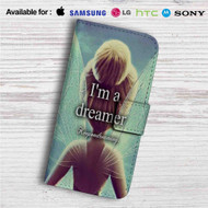 I'm a Dreamer Disney Tinkerbell Custom Leather Wallet iPhone 4/4S 5S/C 6/6S Plus 7| Samsung Galaxy S4 S5 S6 S7 Note 3 4 5| LG G2 G3 G4| Motorola Moto X X2 Nexus 6| Sony Z3 Z4 Mini| HTC ONE X M7 M8 M9 Case