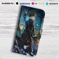 Kirito x Sword Art Online Custom Leather Wallet iPhone 4/4S 5S/C 6/6S Plus 7| Samsung Galaxy S4 S5 S6 S7 Note 3 4 5| LG G2 G3 G4| Motorola Moto X X2 Nexus 6| Sony Z3 Z4 Mini| HTC ONE X M7 M8 M9 Case