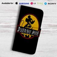 Mickey Mouse Jurassic Mice Custom Leather Wallet iPhone 4/4S 5S/C 6/6S Plus 7  Samsung Galaxy S4 S5 S6 S7 Note 3 4 5  LG G2 G3 G4  Motorola Moto X X2 Nexus 6  Sony Z3 Z4 Mini  HTC ONE X M7 M8 M9 Case