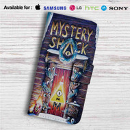 Mystery Shack Gravity Falls Custom Leather Wallet iPhone 4/4S 5S/C 6/6S Plus 7| Samsung Galaxy S4 S5 S6 S7 Note 3 4 5| LG G2 G3 G4| Motorola Moto X X2 Nexus 6| Sony Z3 Z4 Mini| HTC ONE X M7 M8 M9 Case
