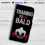 Saitamas Training One Punch Man Custom Leather Wallet iPhone 4/4S 5S/C 6/6S Plus 7| Samsung Galaxy S4 S5 S6 S7 Note 3 4 5| LG G2 G3 G4| Motorola Moto X X2 Nexus 6| Sony Z3 Z4 Mini| HTC ONE X M7 M8 M9 Case