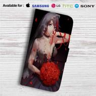 Sexy Ryuuko Matoi Kill La Kill Custom Leather Wallet iPhone 4/4S 5S/C 6/6S Plus 7  Samsung Galaxy S4 S5 S6 S7 Note 3 4 5  LG G2 G3 G4  Motorola Moto X X2 Nexus 6  Sony Z3 Z4 Mini  HTC ONE X M7 M8 M9 Case