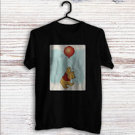 Winnie The Pooh With Ballon Disney Custom T Shirt Tank Top Men and Woman