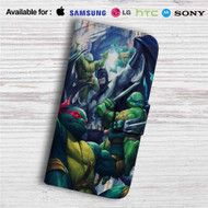 Teenage Mutant Ninja Turtles With Batman Fight Custom Leather Wallet iPhone 4/4S 5S/C 6/6S Plus 7| Samsung Galaxy S4 S5 S6 S7 Note 3 4 5| LG G2 G3 G4| Motorola Moto X X2 Nexus 6| Sony Z3 Z4 Mini| HTC ONE X M7 M8 M9 Case