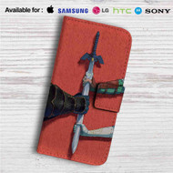 The Legend of Zelda Sword Custom Leather Wallet iPhone 4/4S 5S/C 6/6S Plus 7| Samsung Galaxy S4 S5 S6 S7 Note 3 4 5| LG G2 G3 G4| Motorola Moto X X2 Nexus 6| Sony Z3 Z4 Mini| HTC ONE X M7 M8 M9 Case