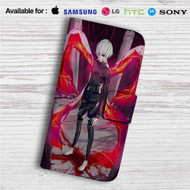 Tokyo Ghoul Kaneki Ken Angry Custom Leather Wallet iPhone 4/4S 5S/C 6/6S Plus 7| Samsung Galaxy S4 S5 S6 S7 Note 3 4 5| LG G2 G3 G4| Motorola Moto X X2 Nexus 6| Sony Z3 Z4 Mini| HTC ONE X M7 M8 M9 Case