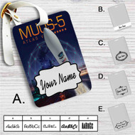 Atlas V MUOS-5 Launch Broadcast Custom Leather Luggage Tag