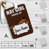 Bojack Horseman Hay Girl Custom Leather Luggage Tag