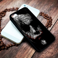 joker face typogravy batman on your case iphone 4 4s 5 5s 5c 6 6plus 7 case / cases