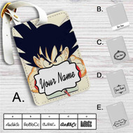 Goku Playing Game Dragon Ball Custom Leather Luggage Tag