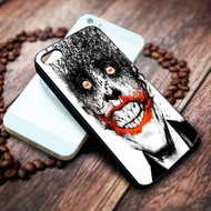 joker With Batman Logo In His Eyes on your case iphone 4 4s 5 5s 5c 6 6plus 7 case / cases
