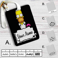 Homer Simpson Godfather Custom Leather Luggage Tag
