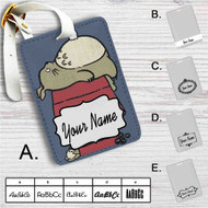 My Neighbor Totoro as Snoopy The Peanuts Custom Leather Luggage Tag