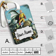 Saitama X Genos One Punch Man Custom Leather Luggage Tag