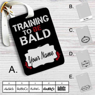 Saitamas Training One Punch Man Custom Leather Luggage Tag