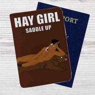 Bojack Horseman Hay Girl Custom Leather Passport Wallet Case Cover