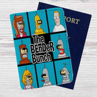 Futurama The Bender Bunch Custom Leather Passport Wallet Case Cover