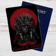 Game of Thrones Star Wars Darth Vader Custom Leather Passport Wallet Case Cover