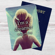 I'm a Dreamer Disney Tinkerbell Custom Leather Passport Wallet Case Cover