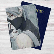 Kakashi Hatake Naruto Shippuden Custom Leather Passport Wallet Case Cover