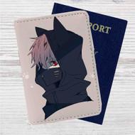 Kaneki Ken Nakigitsune Mask Tokyo Ghoul Custom Leather Passport Wallet Case Cover