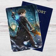 Kirito x Sword Art Online Custom Leather Passport Wallet Case Cover