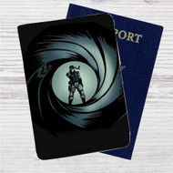 Metal Gear Solid James Bond Custom Leather Passport Wallet Case Cover