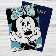 Minnie Mouse Disney Custom Leather Passport Wallet Case Cover