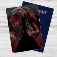 Sasuke Mangekyou Sharingan Custom Leather Passport Wallet Case Cover