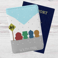 South Park Snow Custom Leather Passport Wallet Case Cover