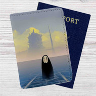 Spirited Away No Face Studio Ghibli Custom Leather Passport Wallet Case Cover