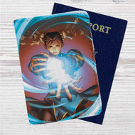Street Fighter Chun-Li Custom Leather Passport Wallet Case Cover
