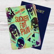 Sucker for Pain Suicide Silence Custom Leather Passport Wallet Case Cover