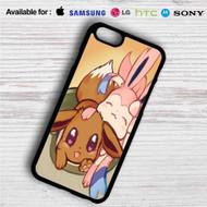 Eevee and Sylveon Pokemon iPhone 4/4S 5 S/C/SE 6/6S Plus 7| Samsung Galaxy S4 S5 S6 S7 NOTE 3 4 5| LG G2 G3 G4| MOTOROLA MOTO X X2 NEXUS 6| SONY Z3 Z4 MINI| HTC ONE X M7 M8 M9 M8 MINI CASE