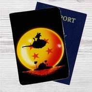 Sunset Dragon Ball Goku Custom Leather Passport Wallet Case Cover