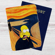 The Simpsons Scream Custom Leather Passport Wallet Case Cover
