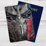 Transformers The Last Knight Custom Leather Passport Wallet Case Cover