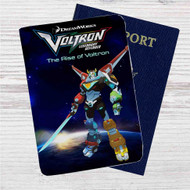 Voltron Legendary Defender The Rise of Voltron Custom Leather Passport Wallet Case Cover
