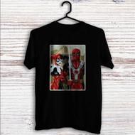 American Gothic Harley Quinn and Deadpool Custom T Shirt Tank Top Men and Woman