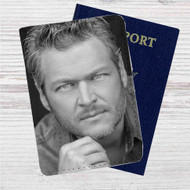 Blake Shelton Custom Leather Passport Wallet Case Cover
