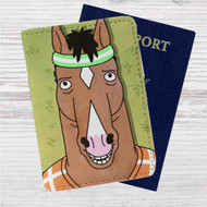 Bojack Horseman Face Custom Leather Passport Wallet Case Cover