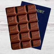 Cadbury Chocolate Custom Leather Passport Wallet Case Cover